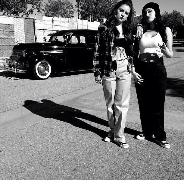 Love these Chola girls..high school 90's fashion.