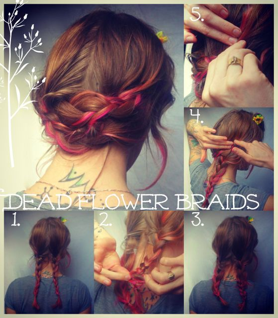 Dead flower braids for a Lazy Springtime Sunday. so many more hairstyle tutorials and more!!!