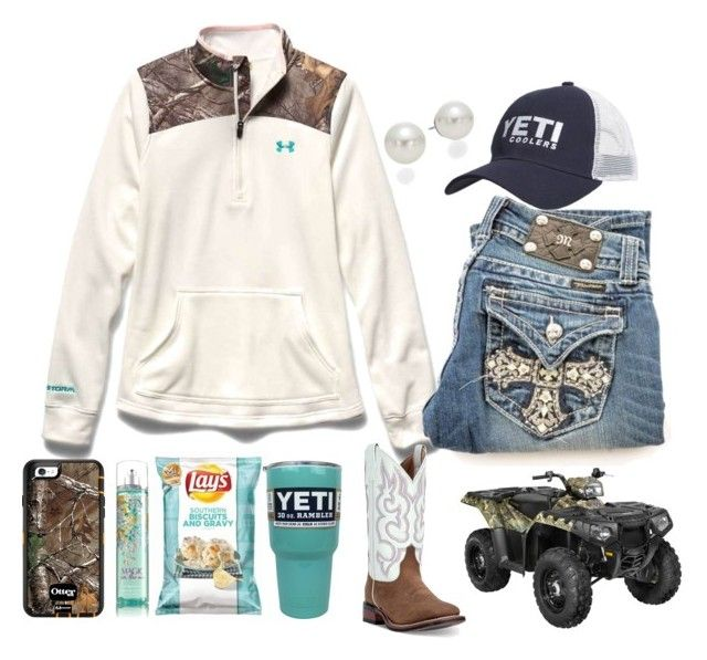 """Would defiantly wear this, only if Florida ever had a winter lol"" by southernfloridabelle97 ❤ liked on Polyvore featuring Under Armour, AK Anne Klein, Polaris and Laredo"