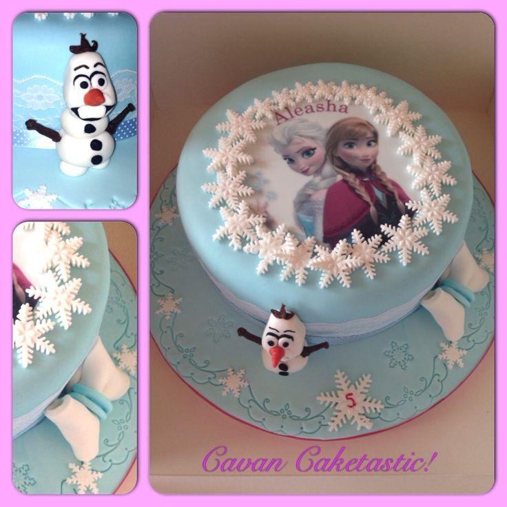 Elsa amp anna cake with 3d olaf https www facebook com caketastic