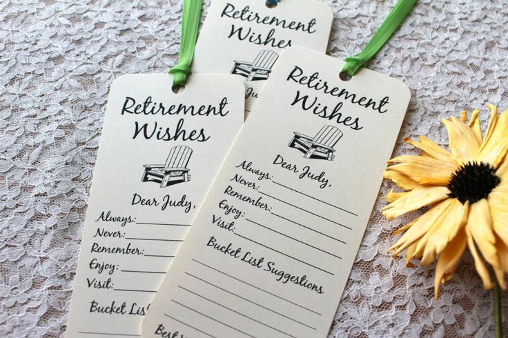 Set of 8 Retirement Wishing Tree Tags / Bookmarks / Retirement Party Idea / Retirement Cards / Retirement Wish Cards by FreeSpiritCrafting on Etsy retirement party gift idea game decorations teacher nurse