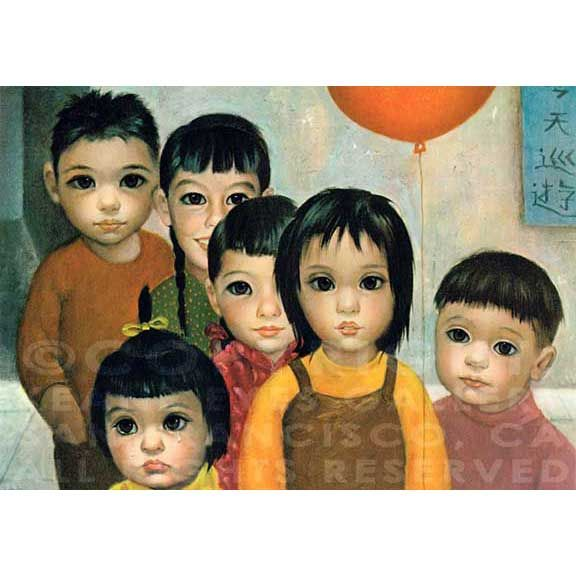 Lithograph on Paper, Originally Printed in Japan in the Year 1962. Sold in like-new condition (the actual print you will receive is 50+ years old). 6-3/4 x 9-1/2 in. (17.1 x 24.1 cm) | KEANE EYES GALLERY