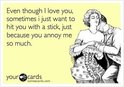 Love You w/ a Stick