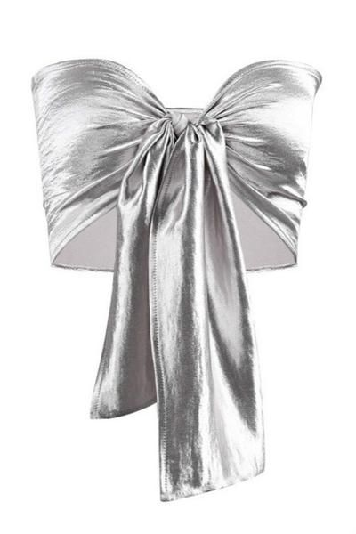 8f32d22180 6 Colors Tie-up Bowknot Tube Bralette Crop Top