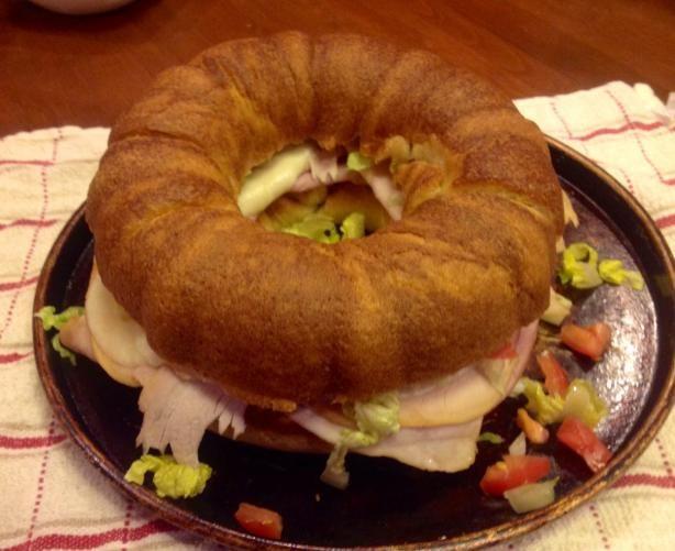 Like the idea of baking bread in bundt pan for a giant sandwich ring!