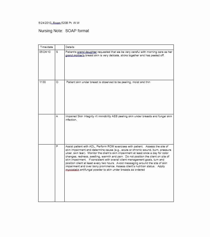 40 Soap Note Template Pdf In 2020 Notes Template