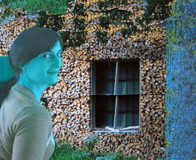 Fotomontagen: die Dame vor dem Fenster
