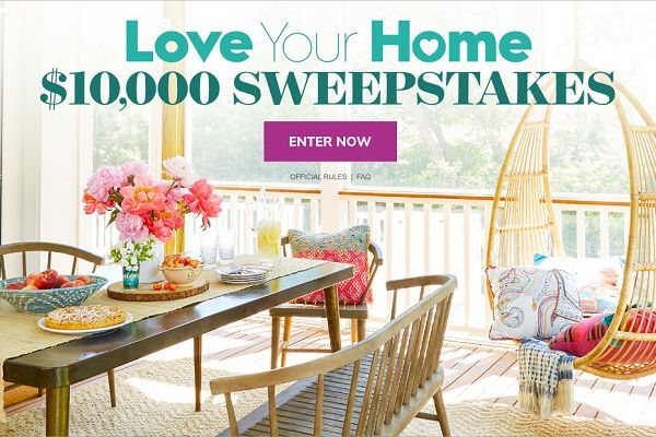 Give your home new looks by winning $10000 cash from BHG