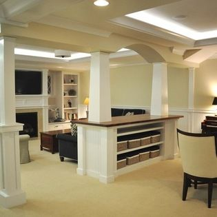Basement Pole Design Ideas, Pictures, Remodel and Decor