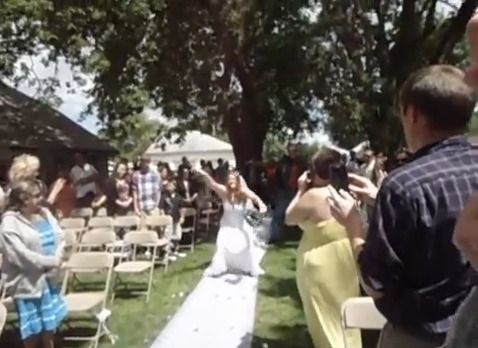 Bride Rocks Down the Aisle to Buckcherry's Song 'Crazy B**ch' #wild