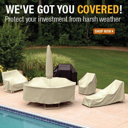 This Fall, we've got you covered! Our patio furniture covers offer year round protection for all kinds of furniture. Shop at  http://www.cozydays.com/patio-furniture-covers/ and protect your investment!
