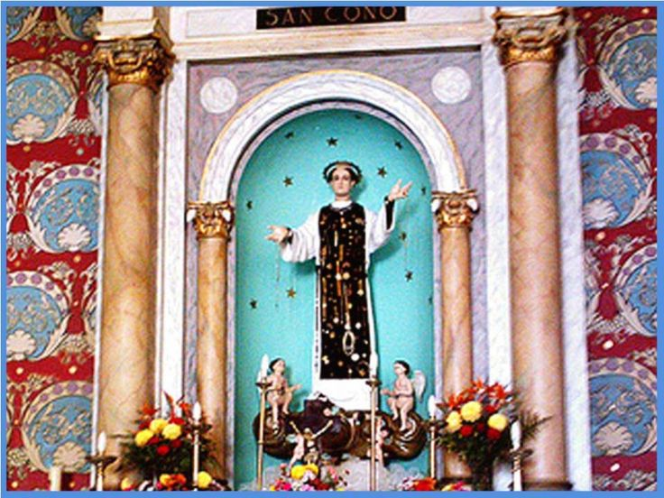 San Cono, dulce criatura angelical,    que gozas de gloria singular en el paraíso Celestial;    nosalegramospor los especialísim...