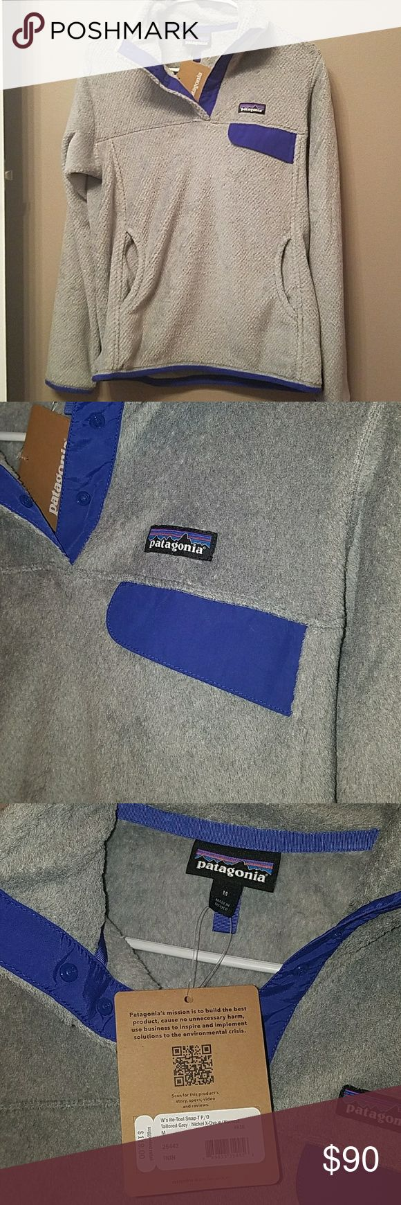 Patagonia snap pullover medium Brand new with tags.  Very soft & comfy ! *FIRM on price. Patagonia Tops Sweatshirts & Hoodies