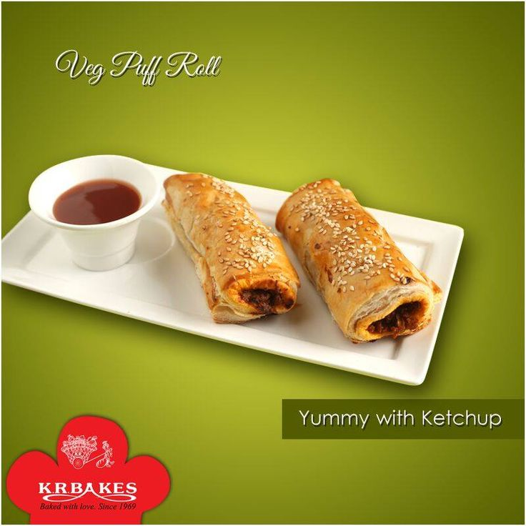 Veg Puff Roll - A perfect evening veg snack.  #KRBakes #KRBakesSince1969 #BakedWithLove #VegPuffRoll