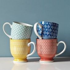 eclectic cups and glassware by West Elm