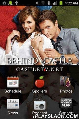 "Castle TV App - Behind Castle  Android App - playslack.com , ""There's an app for that!?"" Richard Castle, ""Tick Tick Tick"".The Behind Castle app is an essential tool for fans of the ABC television series Castle. If you suffer from OCD (Obsessive Castle Disorder) and need your daily fix of Castle, Beckett, Ryan, Esposito and the rest of the team you'll want to download this app so you can take your obsession wherever you go.Features include: * ABC & TNT Schedule…"