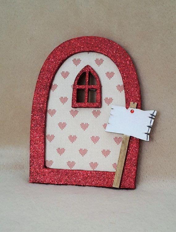 Fairy Door  Personalised Red Love Heart by TheLittleFairydoor