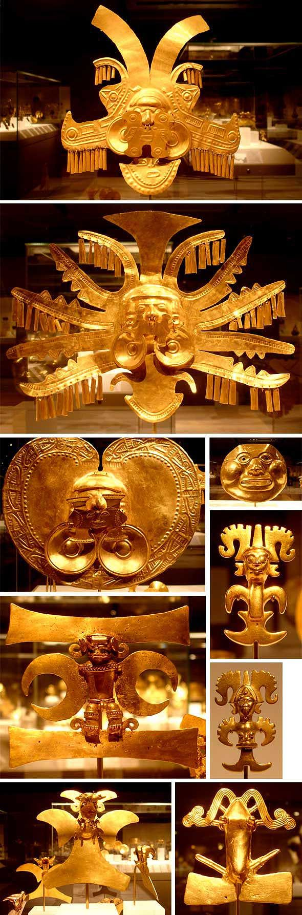 I find these pieces of Pre-Columbian gold jewellery tremendously inspiring. So, of course, did Col...
