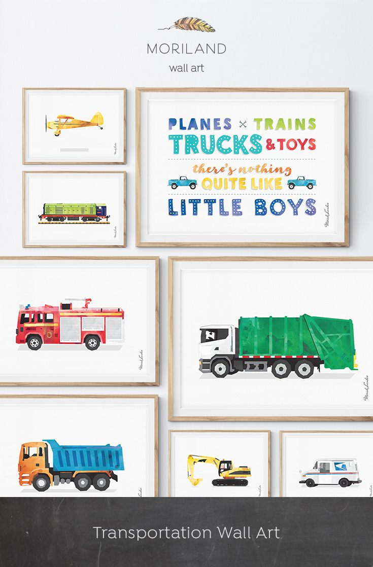 Planes Trains Trucks And Toys Print Transportation Art Vehicle