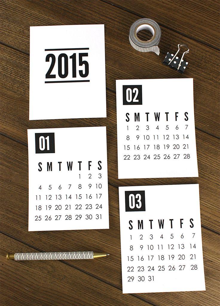 2015印刷可能なカレンダー