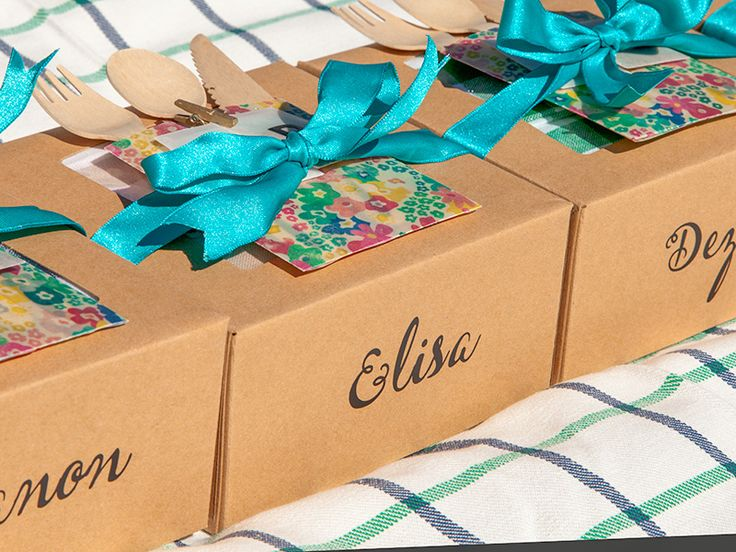 Pretty picnic boxes - the perfect accessory to any summer gathering.