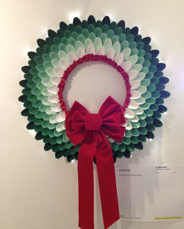 """""""A Spoonful,"""" by Gensler, was made of plastic spoons and Christmas lights."""