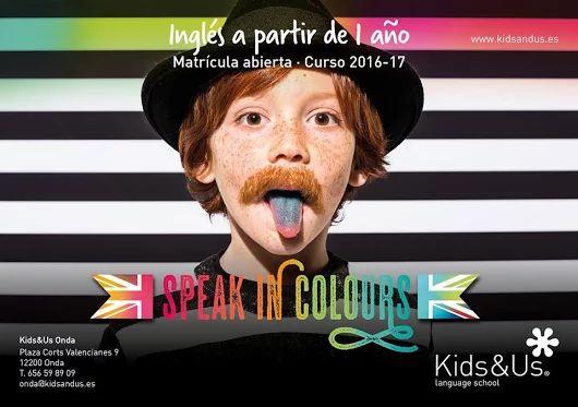 ¡Ya puedes formar parte de Kids&Us Onda! El periodo de inscripción para el Curso 2016-17 está abierto. Ven a elegir horario y reserva tu plaza. ¡No esperes a septiembre!