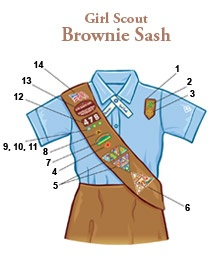 Insignia Placement Brownie Sash #girlscouts