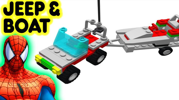 Toy Jeep & Boat Video For Kids Cars With Superhero Spiderman #ToyJeep #ToyBoat