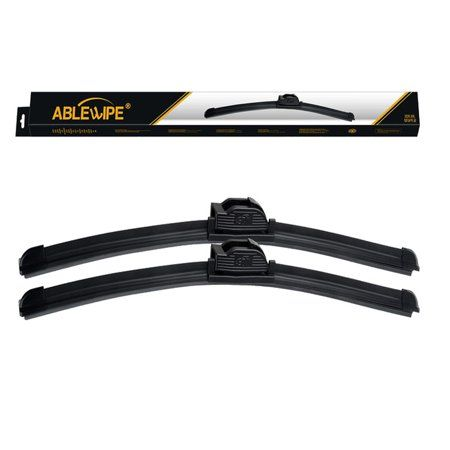 Windshield Wiper Blades fit for 2015 Honda Crosstour U Blades J Hook Front Window Wipers by Ablewipe NO 19m20 (set of 2)