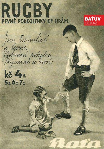 #bata #batashoes #advertising #reklama #retro #rugby #zdobovehotisku #1937