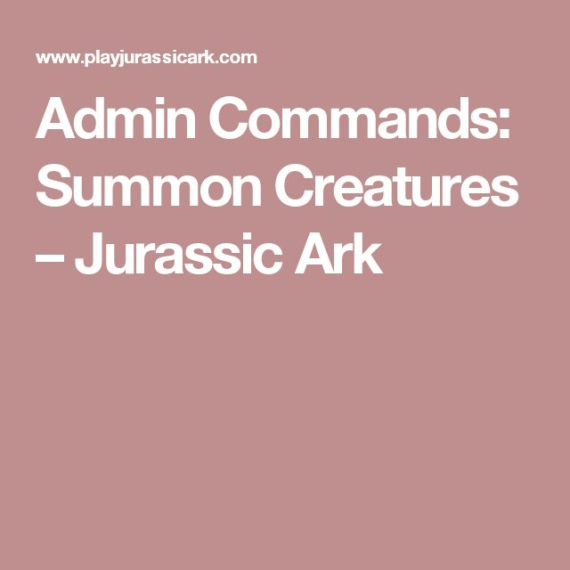 how to use admin commands ark
