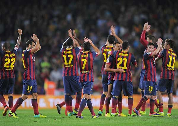 FC Barcelona at the Camp Nou