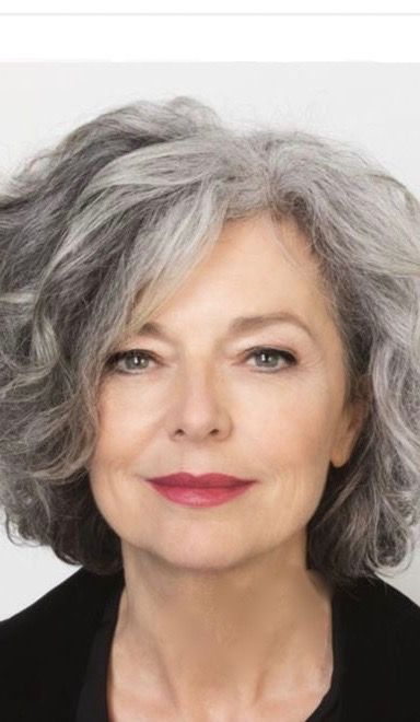 Silver haired beauty.