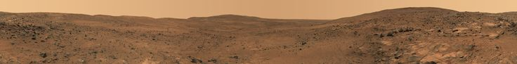 A panorama from the now-disabled Spirit rover.