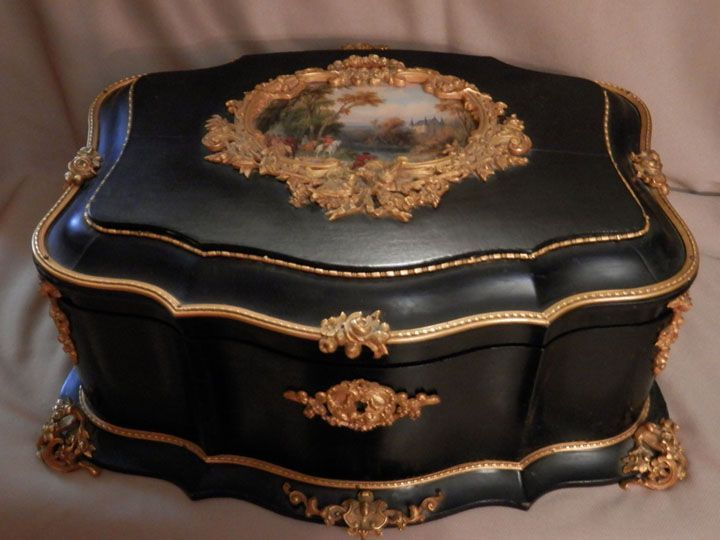 Antique French Signed Alphonse Giroux Jewelry Casket www.rubylane.com