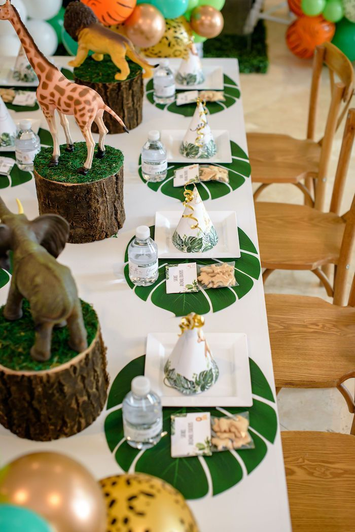 Zoo Party Jungle Birthday Party Decorations Jungle Animal Decorations 5 Jungle Centerpieces Zoo Decorations