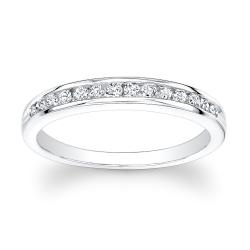 @Overstock.com - 14k White Gold 1/2ct TDW Channel-set Round Diamond Eternity Band (H-I, I1-I2) - The most popular band to express your ever lasting love to her with this beautiful 14-karat gold anniversary band.  http://www.overstock.com/Jewelry-Watches/14k-White-Gold-1-2ct-TDW-Channel-set-Round-Diamond-Eternity-Band-H-I-I1-I2/6345184/product.html?CID=214117 $589.99