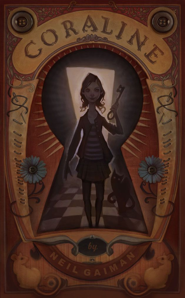 audreybenjaminsen:    A book cover for Coraline by Mr. Neil Gaiman   Audrey Benjaminsen 2012