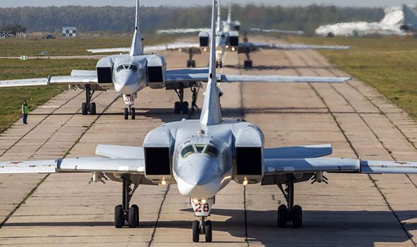 RUSSIA has launched a series of massive airstrikes on a major Islamic State (ISIS) terror camp and ammunition depots in the heart of Syria.