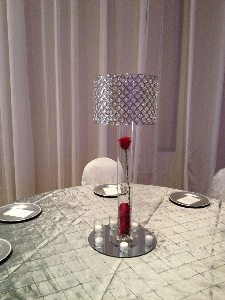 Crystal Lamp shade vases