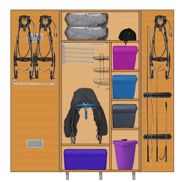 Fabrication d'une armoire de sellerie