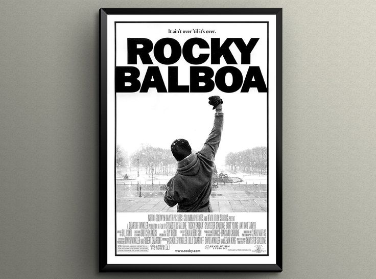 "ROCKY BALBOA Movie Poster Giclée Printed 24"" x 36"" or 18"" x 24"" ! Great Gift"