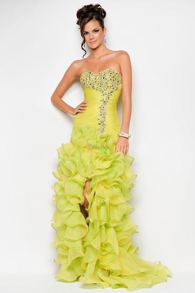 Pretty 2013 Prom Dresses New Arrival Yellow Trumpet ...