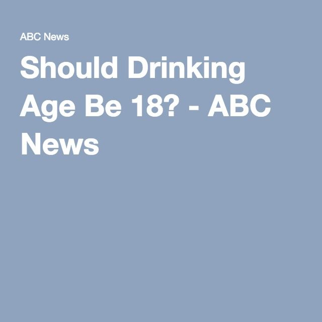 why the drinking age should be Trouble is, nearly all the research -- from health effects to highway accidents -- is on the other side overwhelmingly, the evidence supports a drinking age of 21.