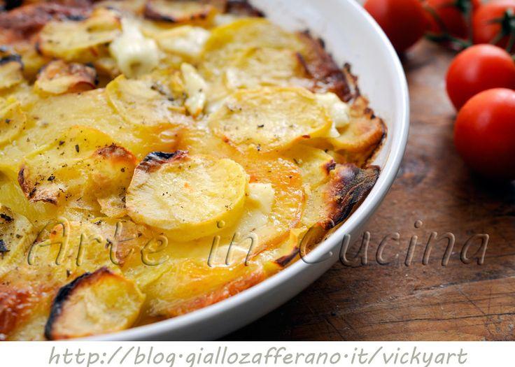 Savory baked potatoes and provolone   Patate e provola al forno saporite   Arte in Cucina