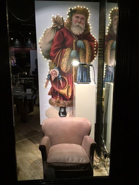 #andrewmartin #interiordesign #decor #santa #chair #leather #metal #rustic #vintage #lights #christmas #london