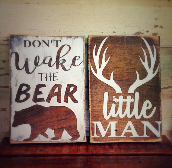 rustic nursery decor woodland nursery woodland by KKsCraftyMama