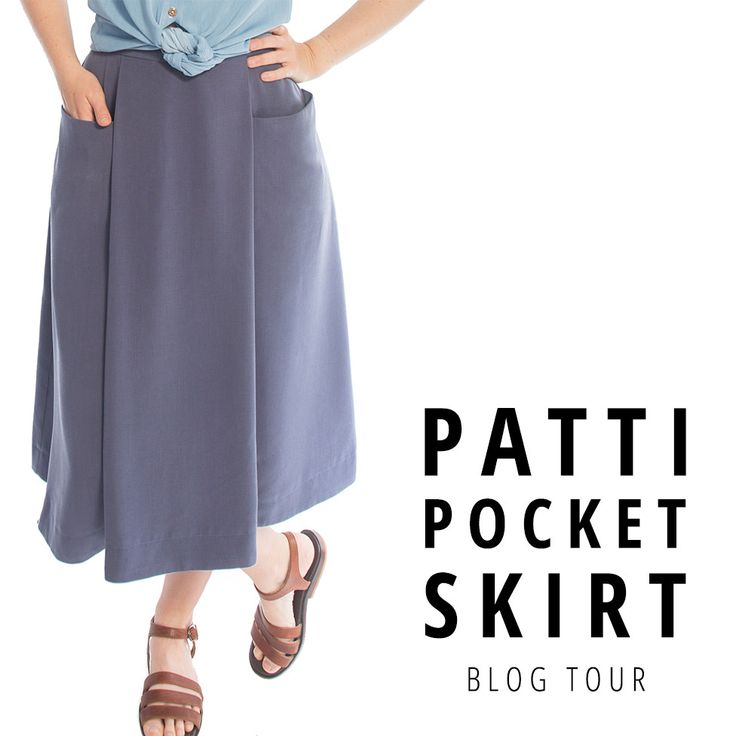 See how Allie wears the Patti Pocket Skirt by Amy Nicole Studio! | Indiesew.com