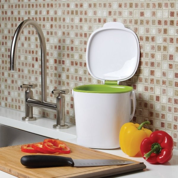 Superior Compost Containers For Kitchen  Can Place On Counter Top Or Under Sink  Until Ready To